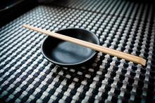 Empty Sauce Bowl And Chopstick...