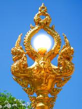 Lamp, Naga And Thai Pattern Sc...