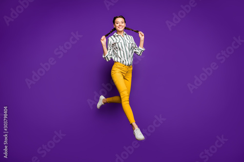 Fotomural Full length body size view of her she nice attractive lovely charming cheerful c