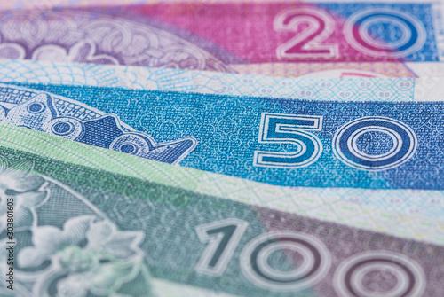 Fotomural Polish zloty banknotes