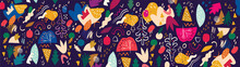 Incredible Colorful Abstract Pattern With Floral Elements