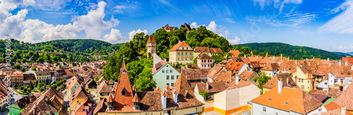 Fotografie, Tablou  Medieval old town Sighisoara in Mures County, Transylvania, Romania