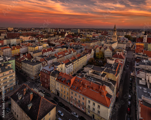 Obraz Opole city in Opolskie Voivodeship with old hertiage buildings and wonderful views - fototapety do salonu