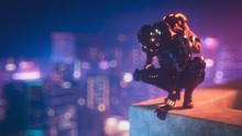 Cyborg Female Sitting On Her H...