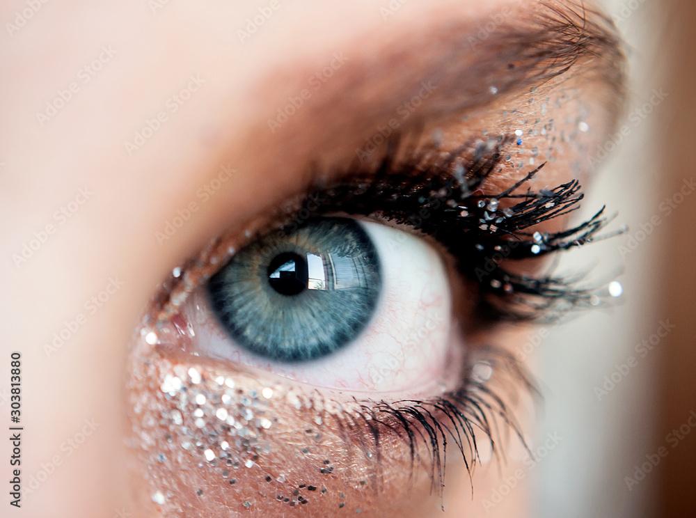 Fototapeta Close up occhio blu