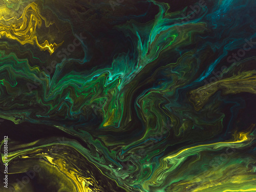 Fotografia  Abstract art neon background, texture painting.