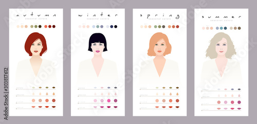 Seasonal colors for white, Mediterranean and Caucasian women