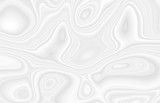 White background with waves and bends in an abstract cosmic form, circles and stains. Gray texture with gradients in 3 d volume, template for beautiful screensavers.
