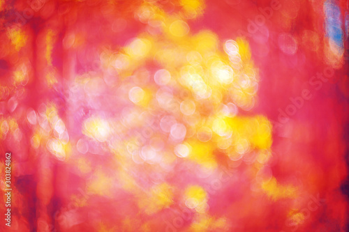 Obraz Art color photo of abstract nature image with vibrant red and yellow - fototapety do salonu