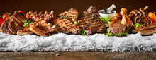 Layout Of Grilled Meat Product...
