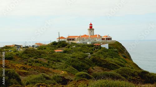 Foto auf AluDibond Natural Park of Sintra at Cape Roca in Portugal called Cabo de Roca - travel photography