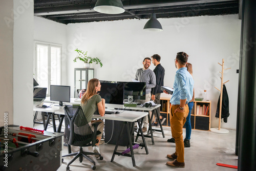 Creative People working in office