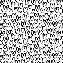 Heart Seamless Pattern. Black ...
