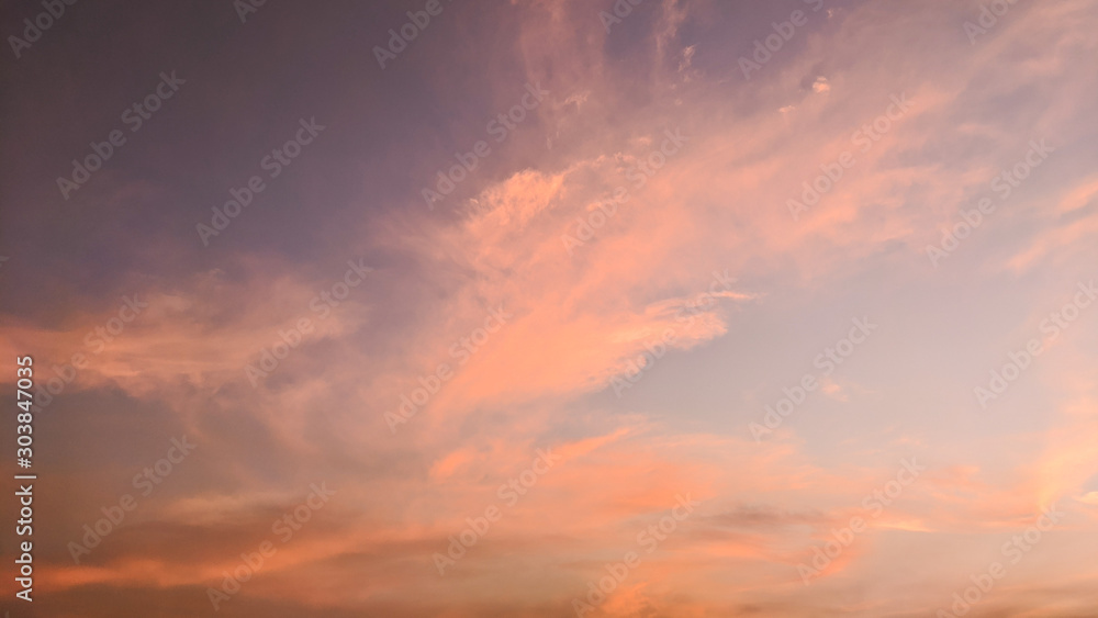 Fototapety, obrazy: the beautiful dramatic sky at sunset. golden hour sky