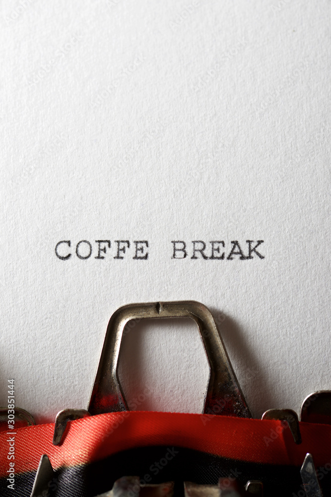Fototapeta Coffee break concept