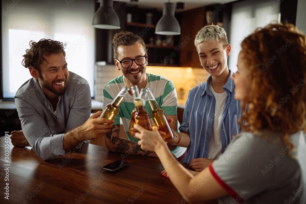 Fototapeta Cheers to us!