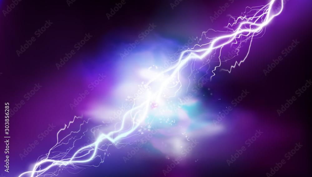 Fototapeta Electrical energy. Heat lighting. Light effects. Vector illustration.