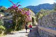 canvas print picture - Wanderung durch das Dorf Deia auf der Insel Mallorca