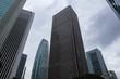 西新宿 高層ビル群 曇天