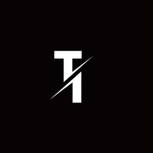 TI Logo Letter Monogram Slash With Modern Logo Designs Template