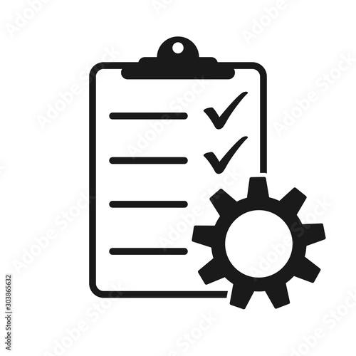 Fotografie, Obraz  Technical check list. Vector checklist clipboard vector icon