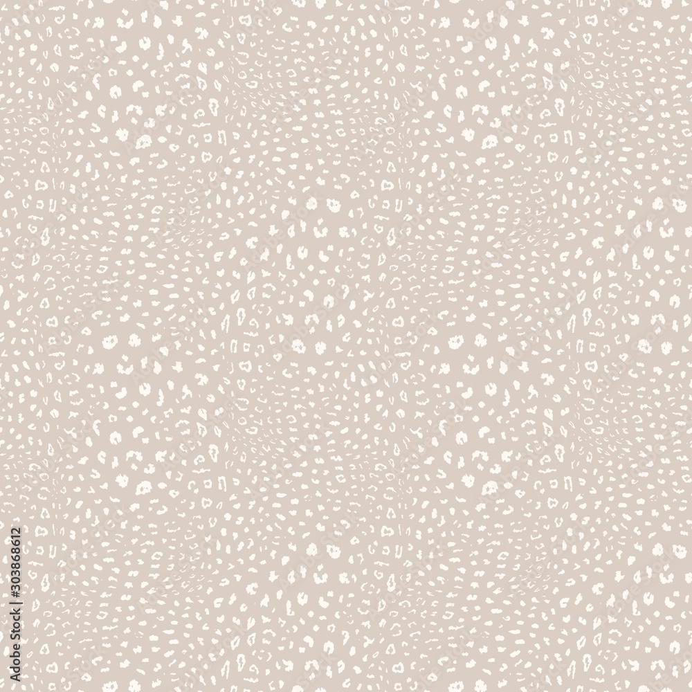 Fototapeta Leopard print pattern. Vector seamless background. Subtle animal skin texture