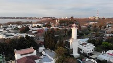 Colonia Del Sacramento Lighthouse In Evening Light, Rotating Aerial