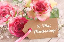 Wunderschöne Rosen Zum Mutter...