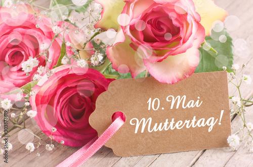 Wunderschöne Rosen zum Muttertag am 10 Mai