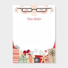 Letter To Santa In Italian Language. Christmas Wishlist