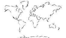 Carte Du Monde Esquisse