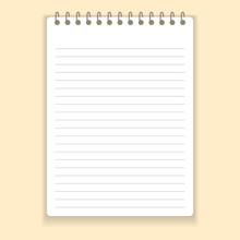Realistic Notebook Or Notepad ...