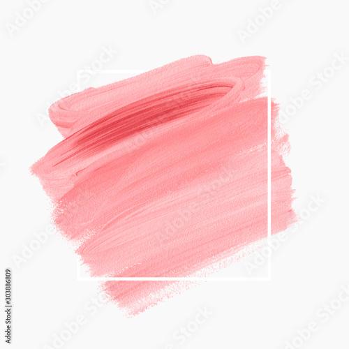 Fotografiet  Logo brush painted acrylic background vector