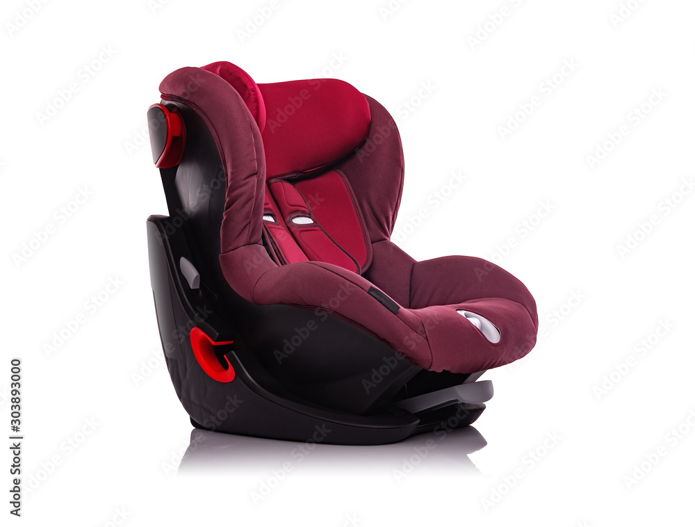 Fototapety, obrazy: Child car seat is isolated on a white background.