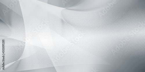 Photo white gray motion background / grey gradient abstract background