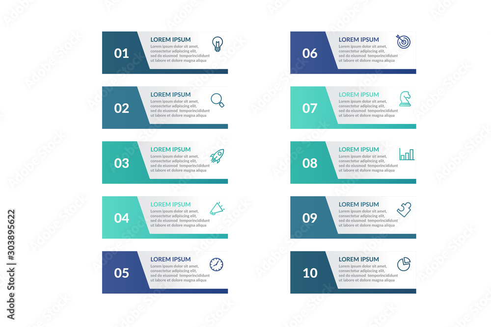 Fototapeta list infographic template design . business infographic concept for presentations, banner, workflow layout, process diagram, flow chart and how it work
