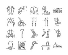 Orthopedics Line Color Icons S...