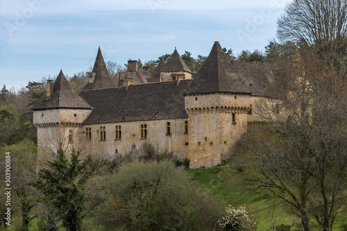 Obraz na plátně Château de la Grande Filolie à Saint Amand de Coly , en Dordogne, france
