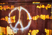 Rusty Peace Sign
