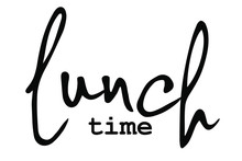 Lunch Time With Creatif Font Design.