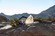 Crystal Altar On Shipibo Sacre...
