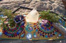 Crystal Altar On Sacred Shipib...
