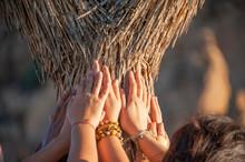 Women Hands Touching The Trunk...