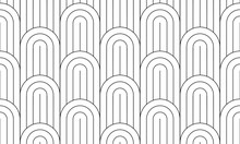 Geometric Seamless Pattern, Black And White Geo Fabric Print, Seamless Overlay Texture, Vector Illustration.