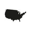 Map of united states of america icon. Isolated.