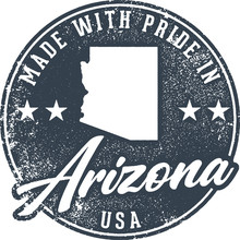 Made In Arizona State Packaging Label
