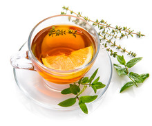 Herbal Tea With Mint Thyme And...