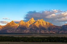 The Golden Peaks Of The Grand ...