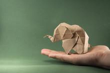 Origami Baby Elephant Made Of ...