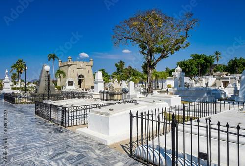 The main cemetery of Santiago de Cuba. Santa Ifigenia cemetery. Tablou Canvas